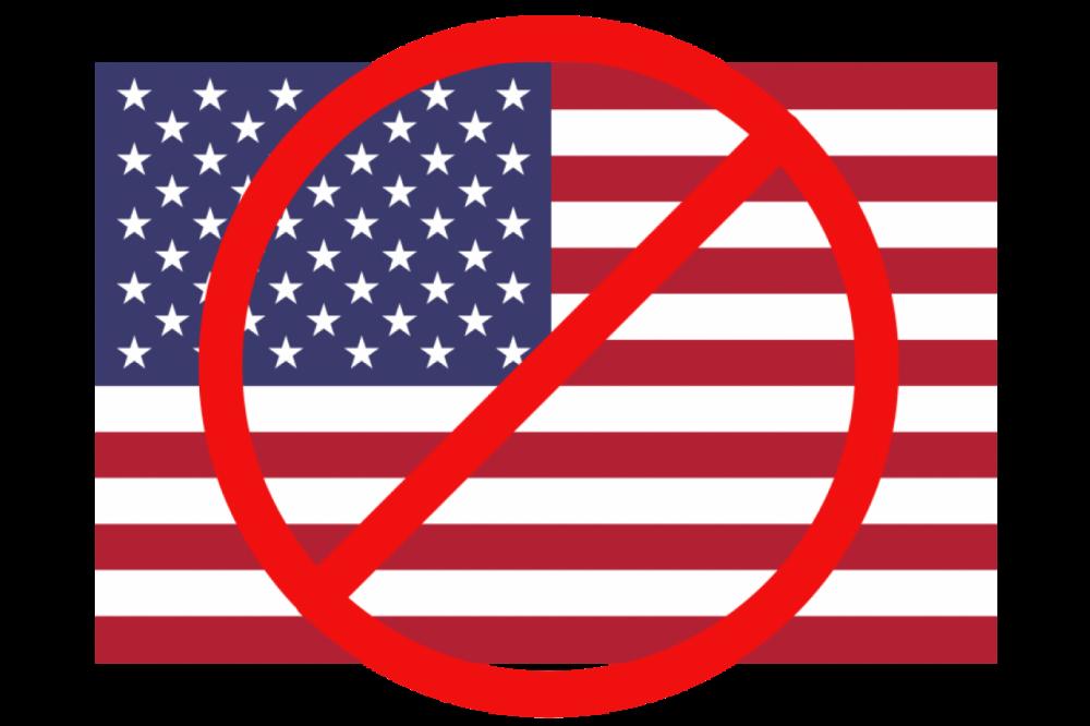 Överkryssad Amerikans flagga